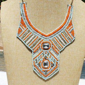 Tanjore Boho Necklace Ethnic Tribal Bib Bead Bling